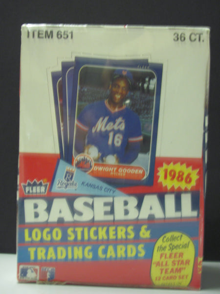 1986 Fleer Baseball Factory Sealed Wax Box 36 Wax Packs Canseco RC