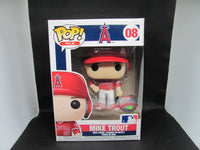 MIKE TROUT LOS ANGELES ANGELS RED JERSEY FUNKO POP! VINYL FIGURE #08 NEW IN BOX