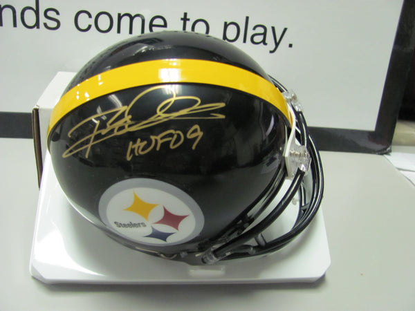 Rod Woodson Pittsburgh Steelers Autographed Mini Helmet  W/H.O.F Inscription JSA
