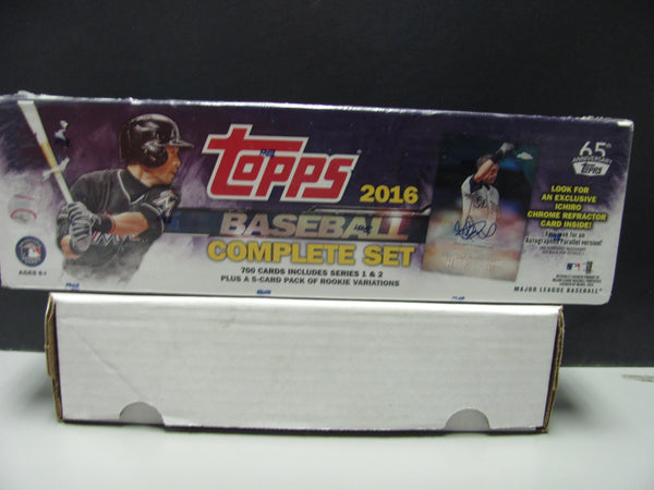 2016 Topps MLB Baseball Complete Set Box-Factory Sealed + Ichiro Refractor Card