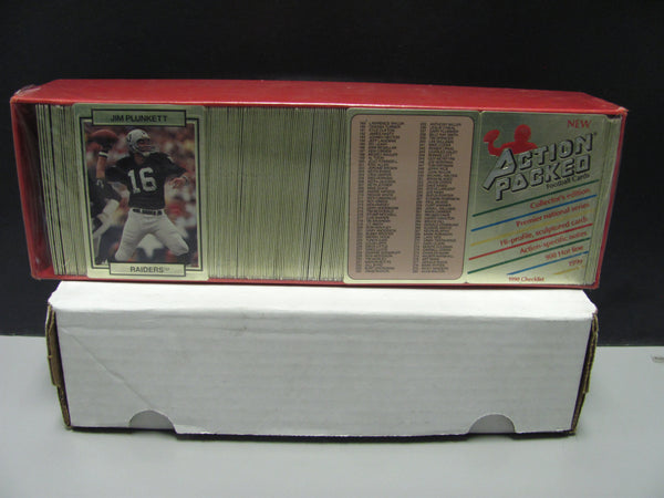 1990 Action Packed FOOTBALL COMPLETE SET 280 Cards ~ FACTORY SEALED Braille Card