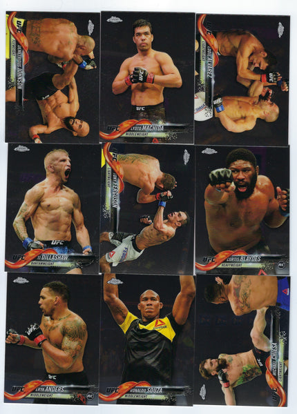 Conor McGregor 2018 Topps Chrome UFC Complete 1-110 Card Base Set  with all SP's