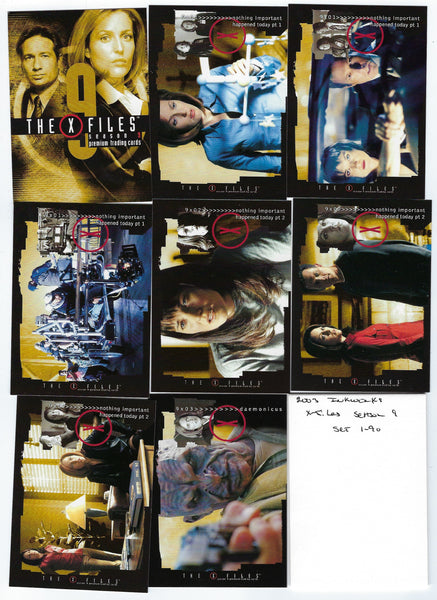 X-Files 2003 Inkworks Season 9 Complete Base Set 1-90