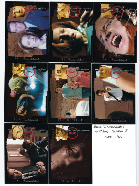 2002 Inkworks X-Files Season 8 Trading Card Set (90) Nm/Mt