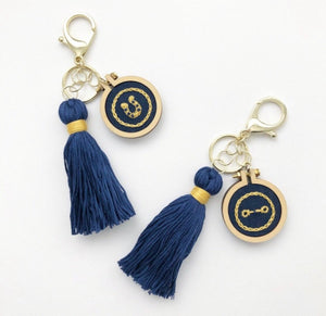 The Livy Rose Embroidered Keychain