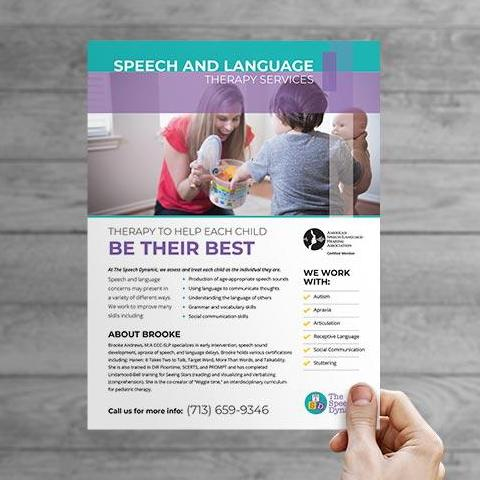 speech therapy private practice flyer