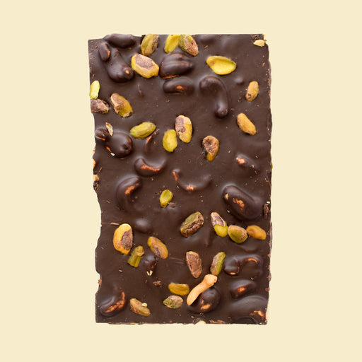 Dark Chocolate Bark — Almond Pistachio