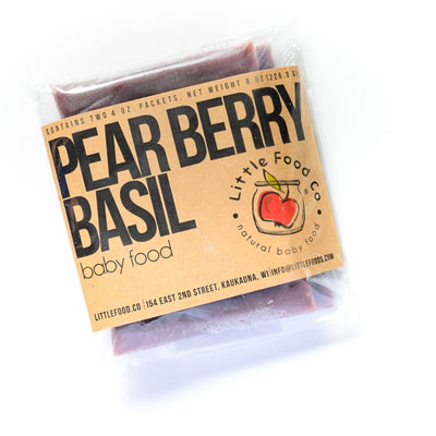 Little Food Co Pear Berry Basil Purée organic baby food puree