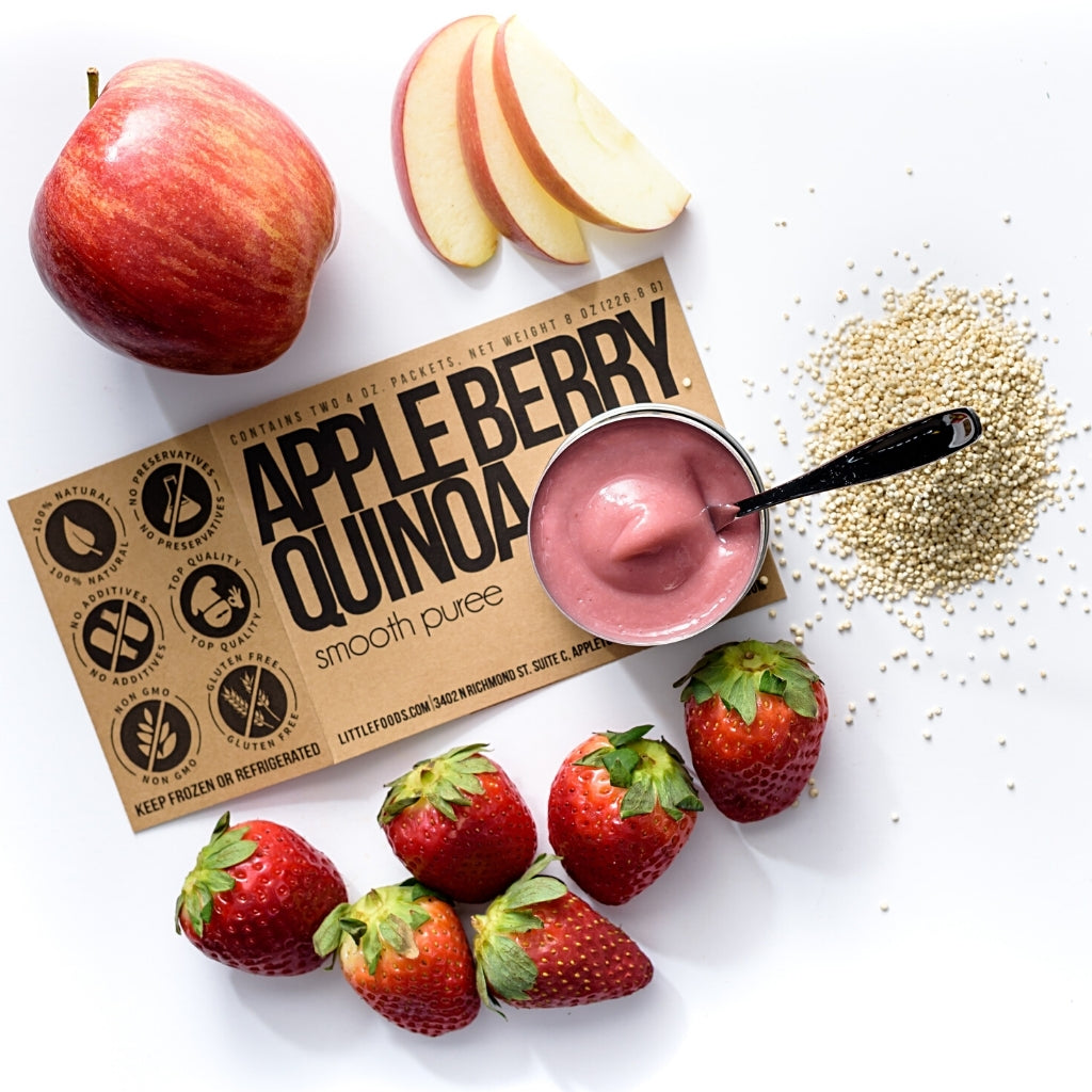Little Food Co Apple Berry Quinoa Purée organic baby food puree