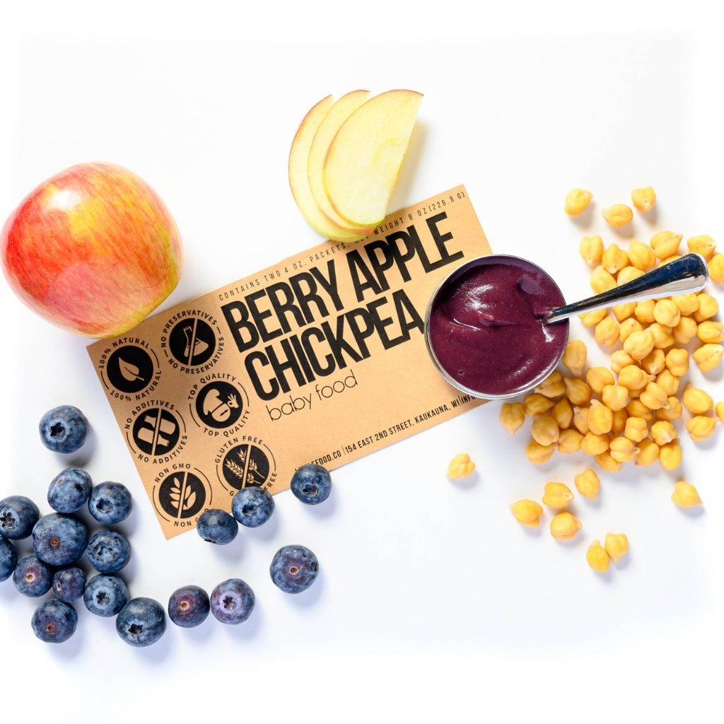 Little Food Co Berry Apple Chickpea Purée organic baby food puree