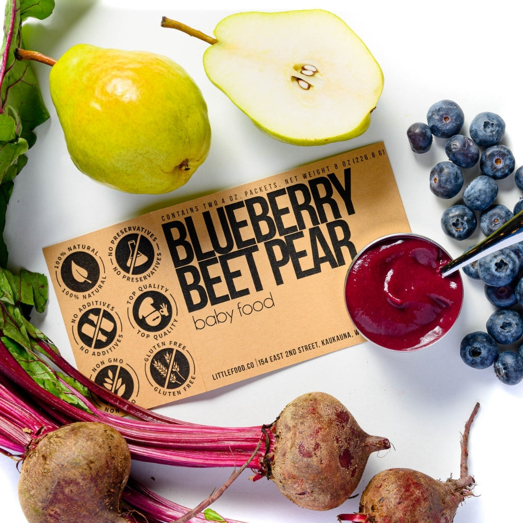 Little Food Co Blueberry Beet Pear Purée organic baby food puree