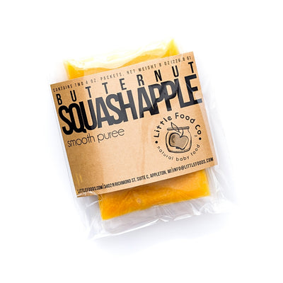 Little Food Co Butternut Squash Apple Purée organic baby food puree