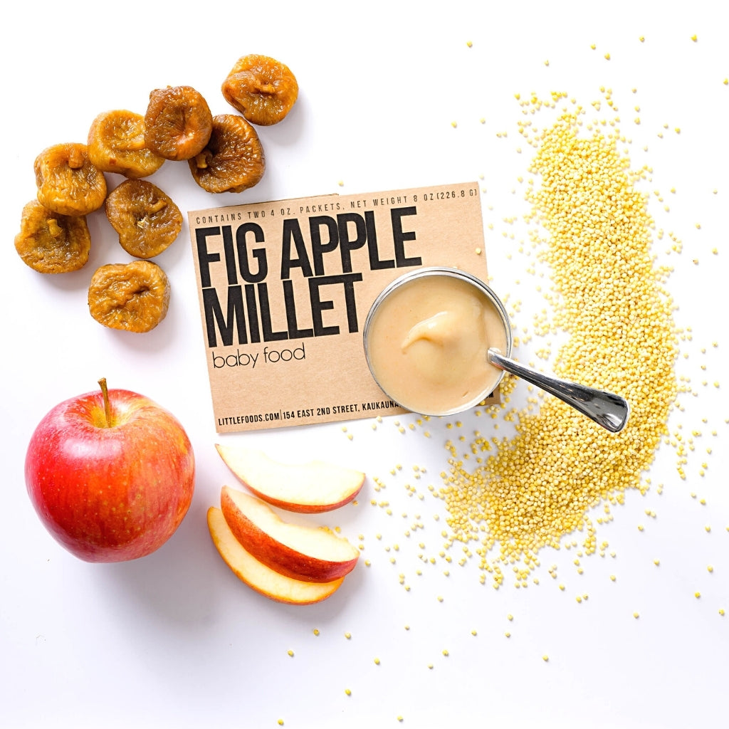 Little Food Co Fig Apple Millet Purée organic baby food puree