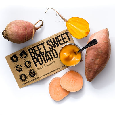 Little Food Co Golden Beet Sweet Potato Purée organic baby food puree