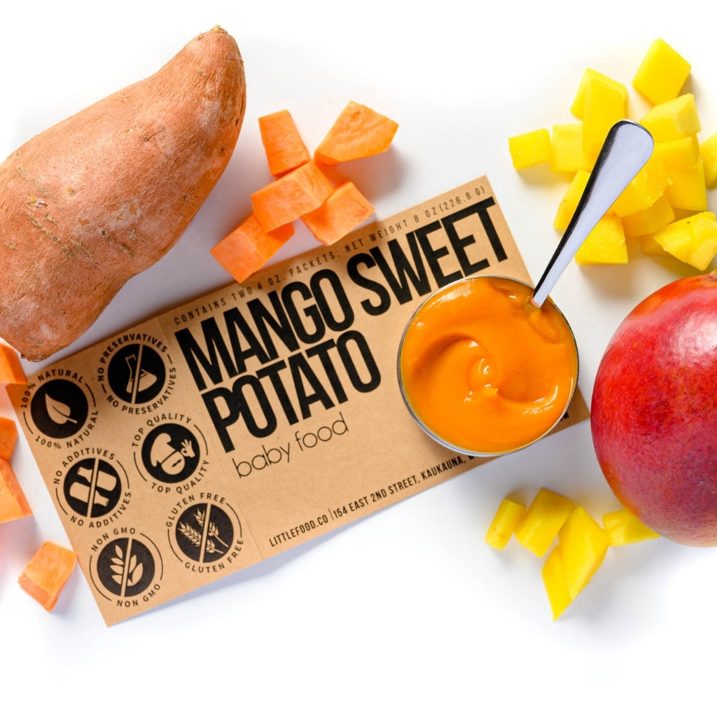 Little Food Co Mango Sweet Potato Purée organic baby food puree