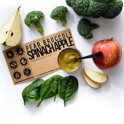 Little Food Co Pear Broccoli Spinach Apple Purée organic baby food puree