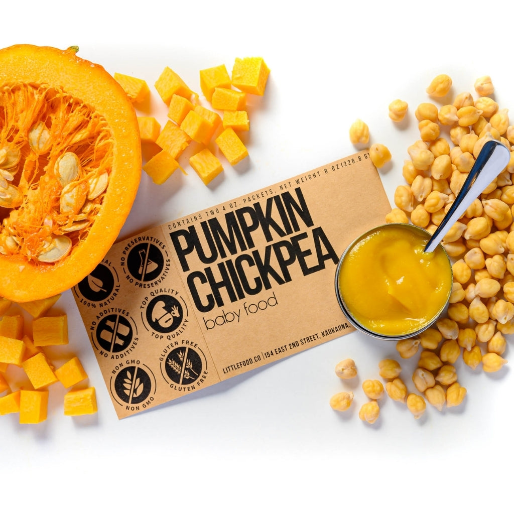 Little Food Co Pumpkin Chickpea Purée organic baby food puree
