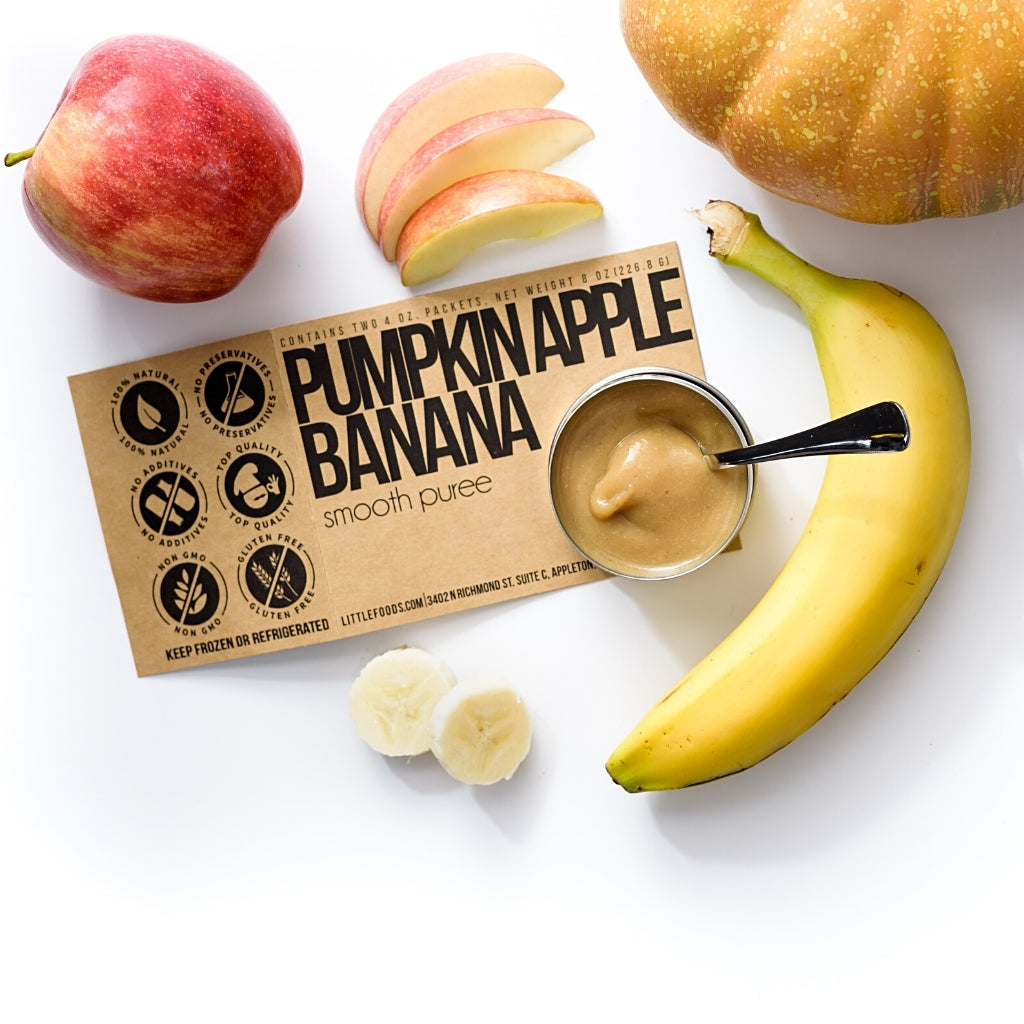 Little Food Co Pumpkin Apple Banana Purée organic baby food puree