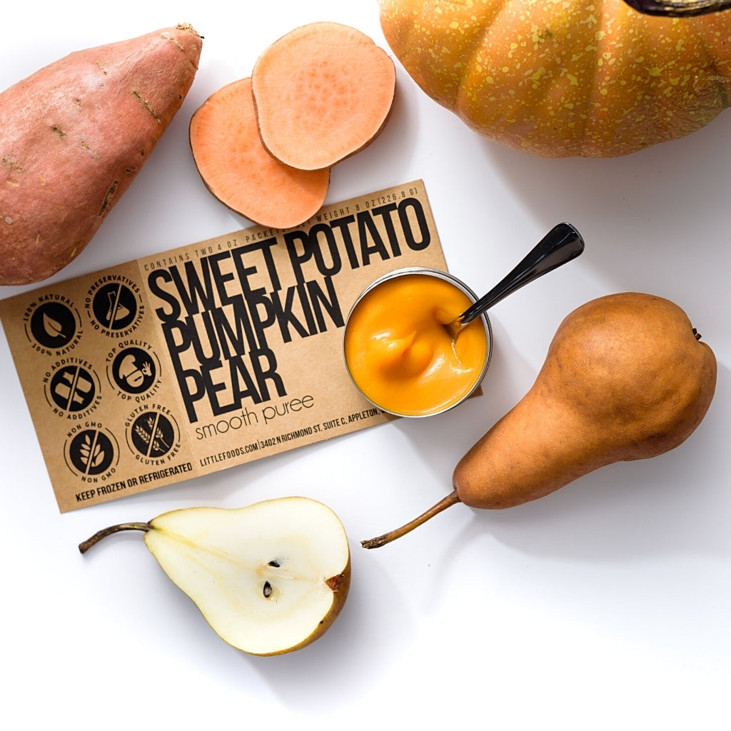 Little Food Co Sweet Potato Pumpkin Pear Purée organic baby food puree