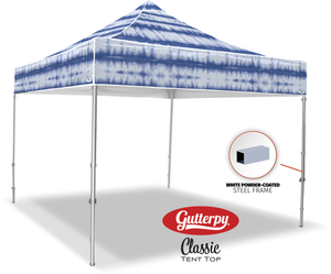 Blue Tie Dye - Ready Made Pop Up Tent Top