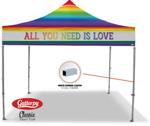 Load image into Gallery viewer, All You Need Is Love - Ready Made Pop Up Tent Top