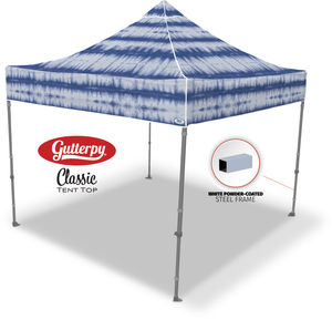 Blue Tie Dye - Pop Up Tent and Frame
