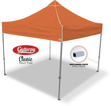 Solid Orange - Pop Up Tent and Frame