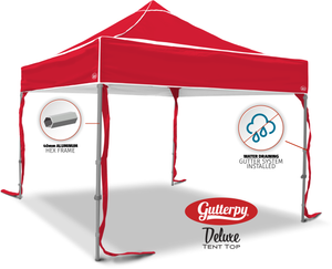 Solid Red - Ready Made Pop Up Tent Top