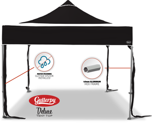 Solid Black - Ready Made Pop Up Tent Top