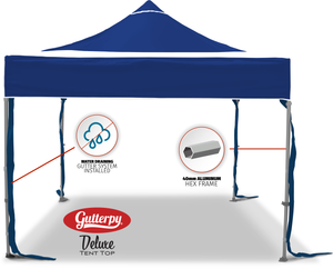Solid Blue - Ready Made Pop Up Tent Top