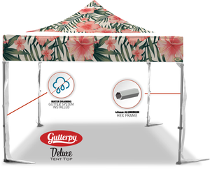 Pink Hibiscus - Pop Up Tent and Frame