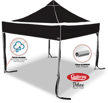 Load image into Gallery viewer, Solid Black - Ready Made Pop Up Tent Top