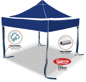 Solid Blue - Pop Up Tent and Frame