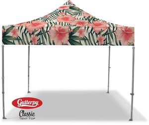 Pink Hibiscus - Ready Made Pop Up Tent Top