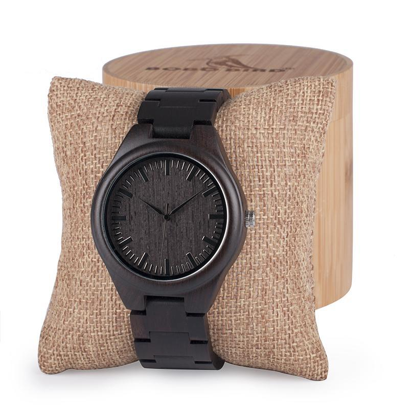 Chocolate 1 0 watch Comes in a FREE BAMBOO Gift Box! – Above