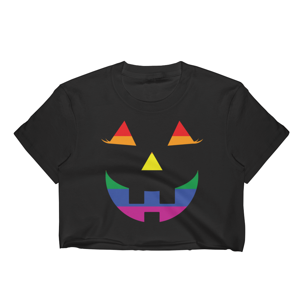 39219388412 Pumpkin Pride Crop Top For Women   TeeBae Shop for a variety of Crop Tops  for