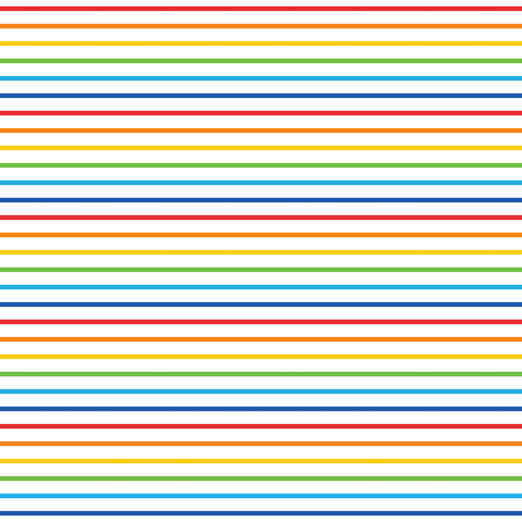 Stripes of Red, Orange, Yellow, Green, Blue 8x13