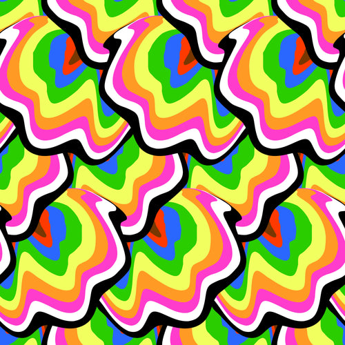 funky geode rainbow colored Faux leather print 8x13