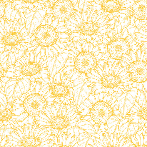 Sunflower bunch faux leather 8x13