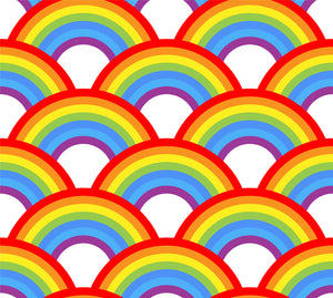Rainbows Faux leather 8x13