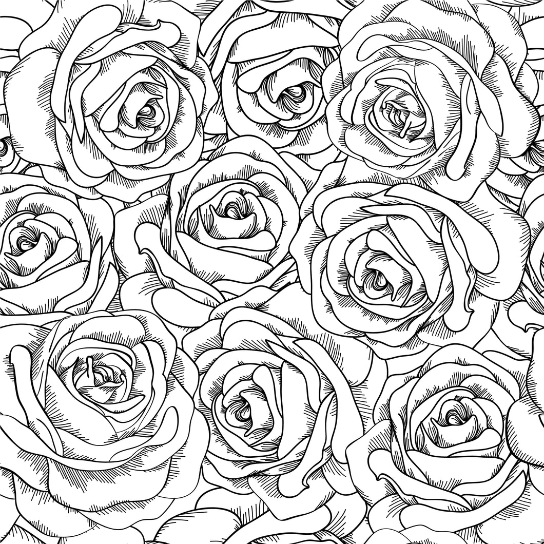 Black and white roses Faux leather 8x13