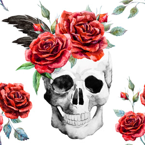 Tattoo Skulls with Red Rose Hat