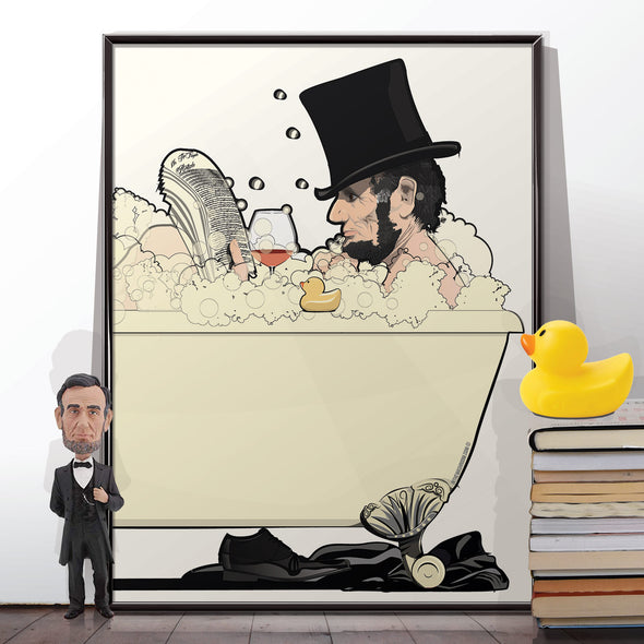 Abraham Lincoln Bathroom Poster
