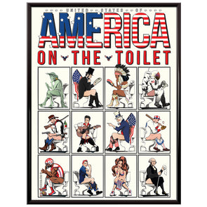 United States of America Icons on the toilet Poster