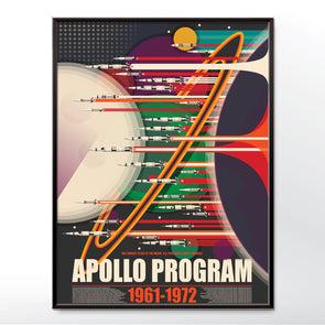 Apollo Program Space race  Grand Tour Poster wall art print from wyatt9.com