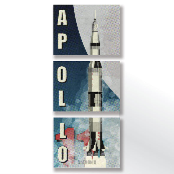 Nasa apollo Program saturn rocket poster wyatt9.com