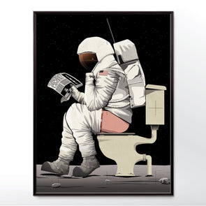 Spaceman Astronaut Poster Bathroom Poster from wyatt9.com