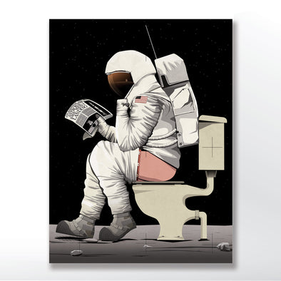 Spaceman Astronaut Poster Bathroom Poster