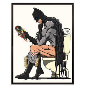 Batman Toilet Bathroom Poster
