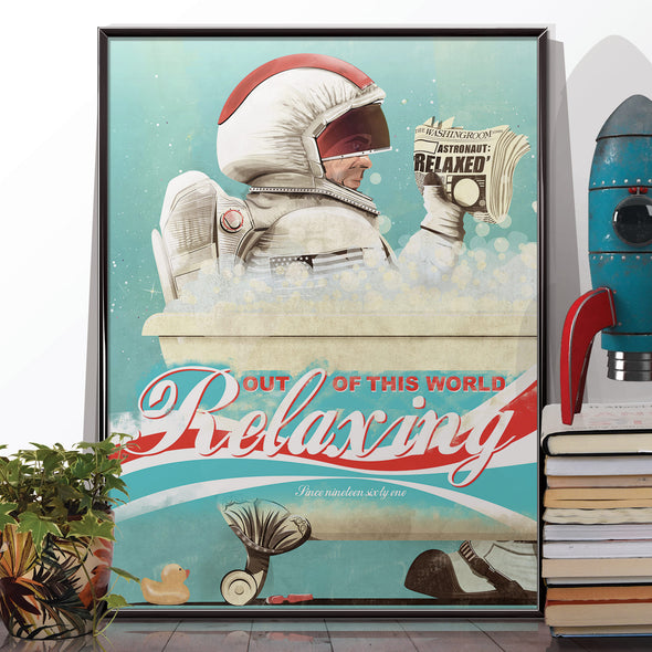 Astronaut in the bath poster print - wyatt9.com